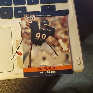 Dan Hampton error football card